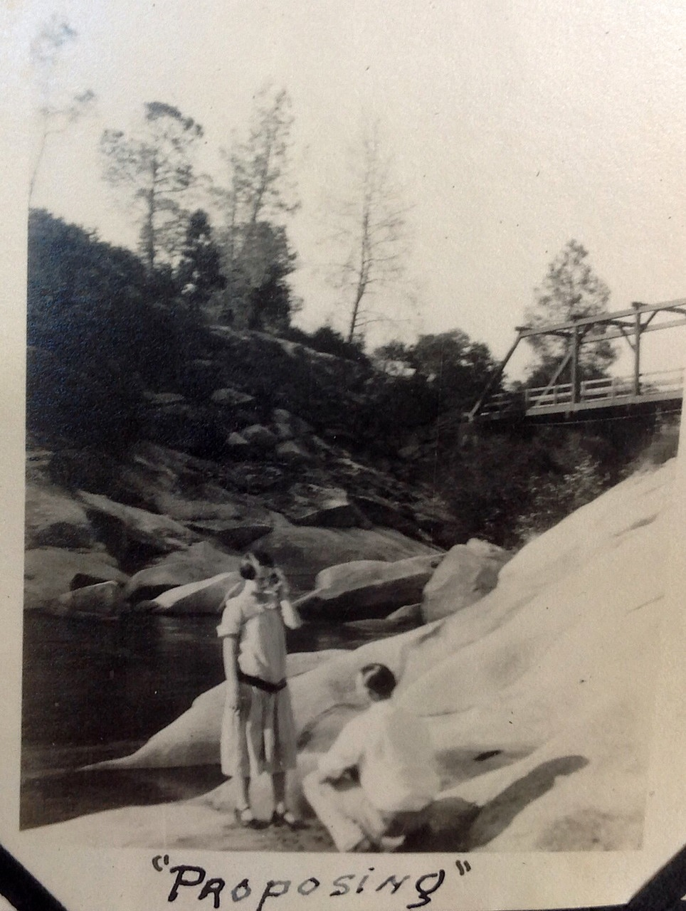 History Mystery 26 - Proposing at bridge - photo courtesy Dorothy Philps