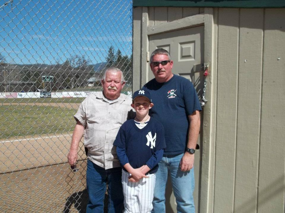 My Dad and my son with me. Happy Fathers Day Lawler