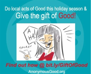 """Nicole Cook suggests we """"Turn local acts of Good into a gift of Good this holiday season!"""" Find out how at bit.ly/GiftOfGood"""