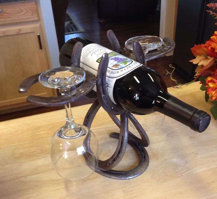 This horseshoe wine holder is an example of the unique and affordable gifts you'll find at Mountain Delights located in the Coarsegold Historic Village. Follow us on Facebook: https://www.facebook.com/mountaindelights.coarsegold.