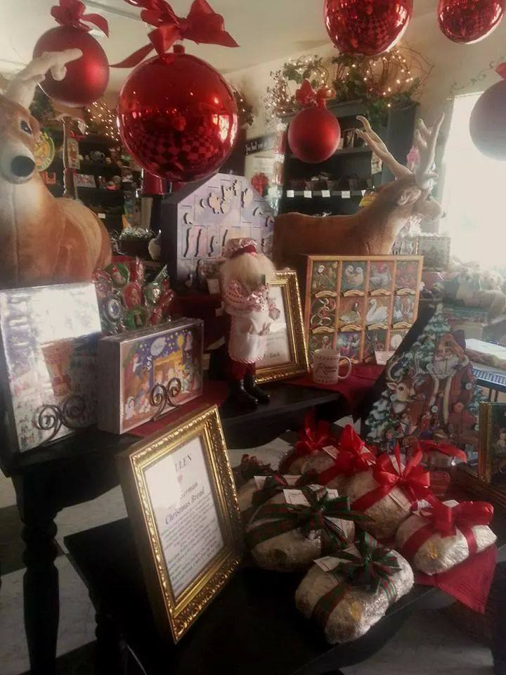 """Mary Beth Garrett sent in this pic from Reimers Candies, saying the shop has """"fantastic, traditional German Christmas bread called Stollen and a great variety of great boxed chocolates."""""""