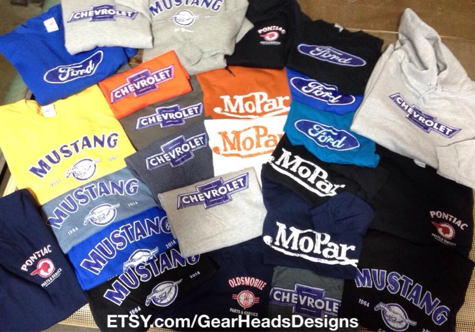 Here is an assortment of Victor's Muscle Car Related Screen Printed TShirts & Sweatshirts that he has available at Idea Print Work Inc. I thought it would be nice to feature his items also on Sierra News Online for Holiday Gifts Section.   It is always hard to find GUY gifts!!