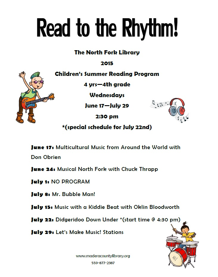 Summer Reading Childrens Program 2015