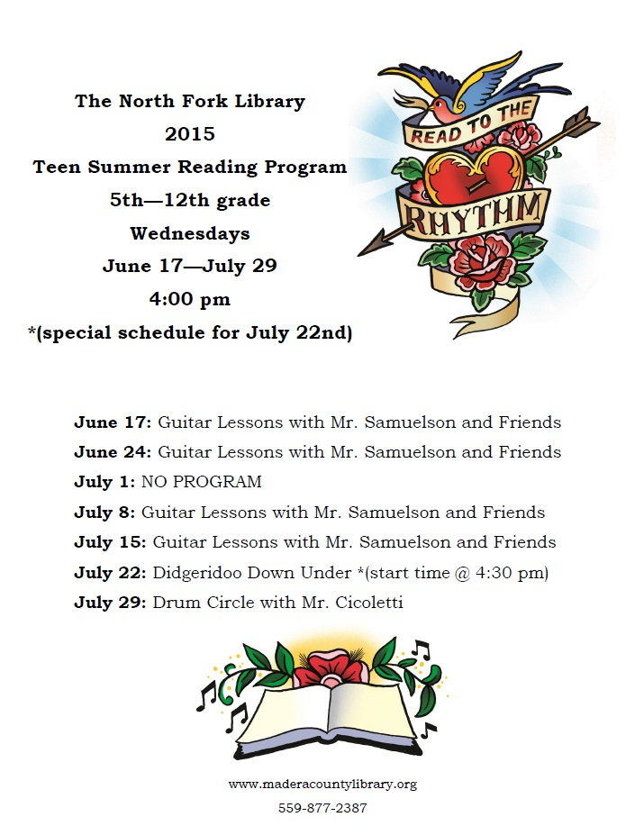 Summer Reading Teens program 2015