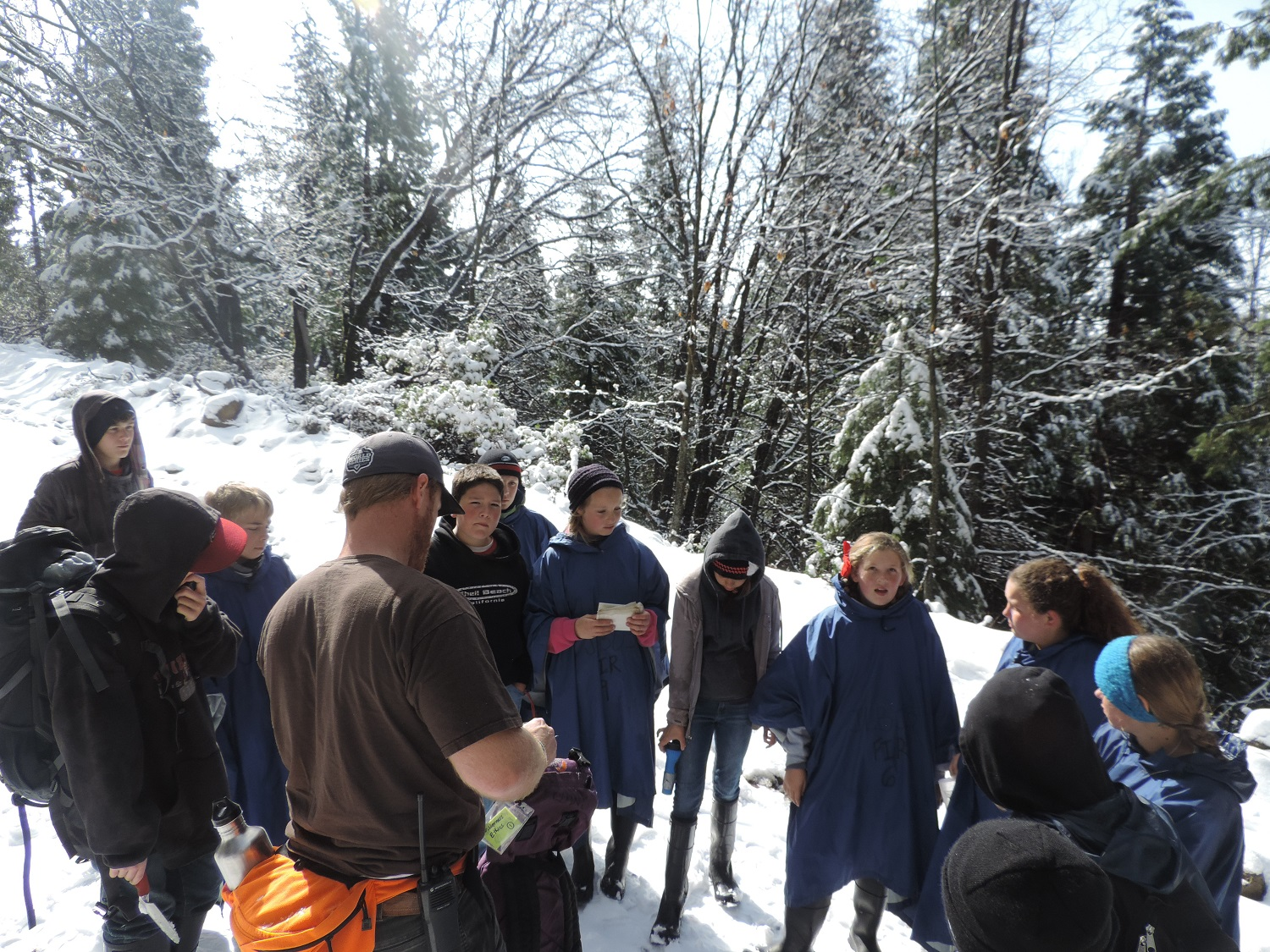Green Meadows 2014 - kids work with counselors out in the snow - photos courtesy of Ronda Clarke