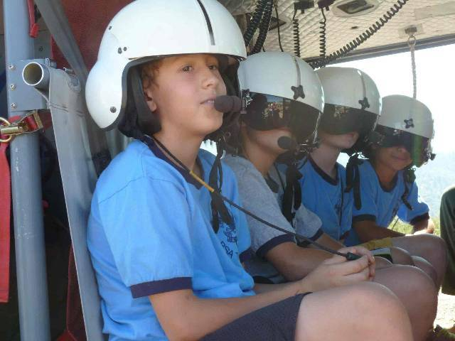 Scouts in the helicopter - photo by Dave Smith
