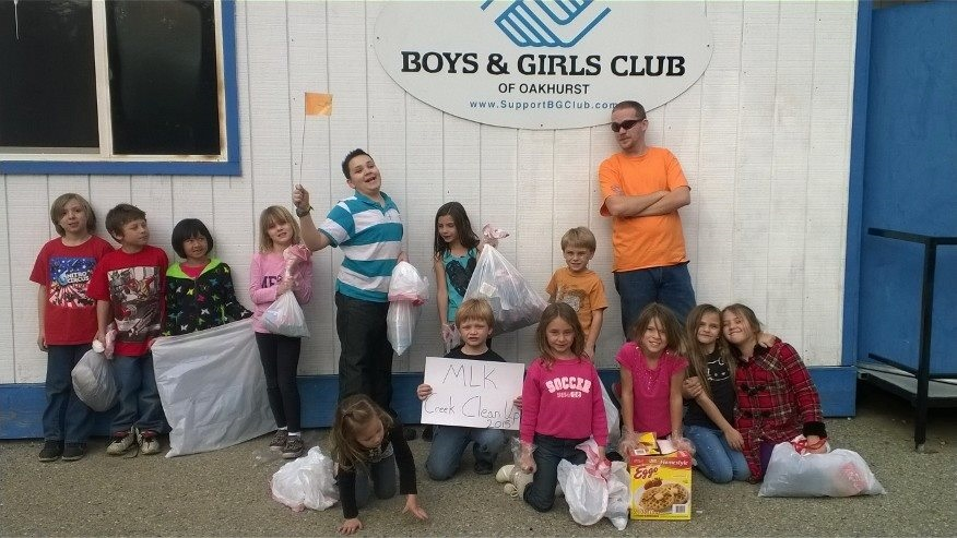 The kids got about 40 lbs. of trash out of the creek right around the Club and under the bridge. AWESOME job with BGC kids giving back to their local ... & Bikes And Blue Doors At The BGC | Sierra News Online
