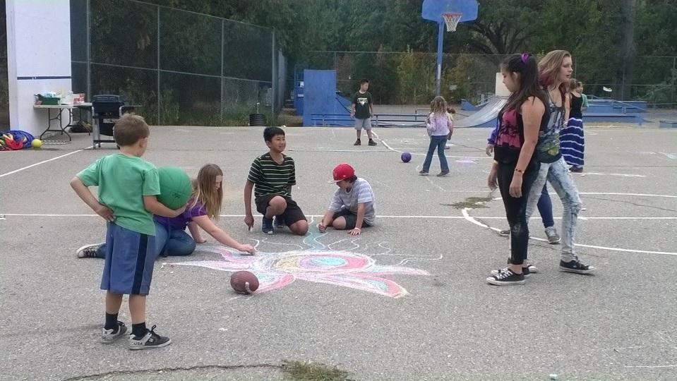 Chalk Fall 2014 - photo provided by Peggy Decker