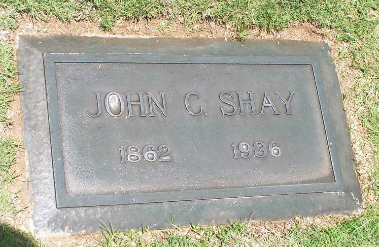 John C Shay grave marker - photo by Steve Varner