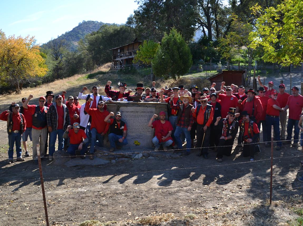 Red Shirts at Canary Cottage dedication 10-12-13 - photo by Gina Clugston
