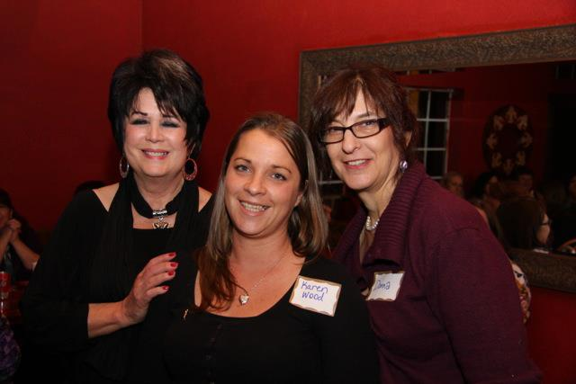 HOW Founders Patti Fuentes and Donna Dozier flank recipient Karen Woods - Photo Courtesy HOW