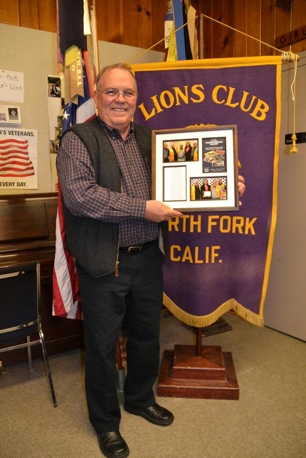 North Fork Lions Club Student Speaker Contest Chairman Jon Norby