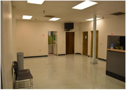 Madera County Department of Social Services lobby - before