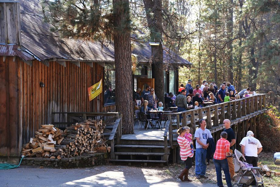 Guests on the deck at Old Town Open House 1-18-14