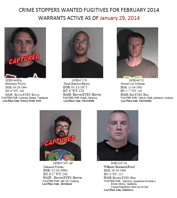 Crimes Stoppers Most Wanted Feb 2014
