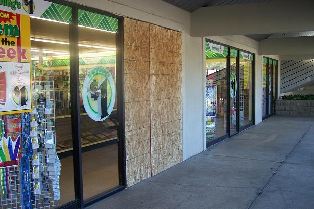 Dollar Tree Broken Windows 8-19-12