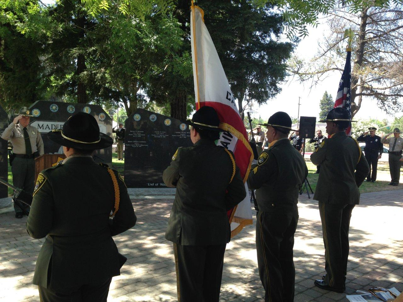 CCWF  VSP Honor Guard - photo courtesy Madera County Sheriff