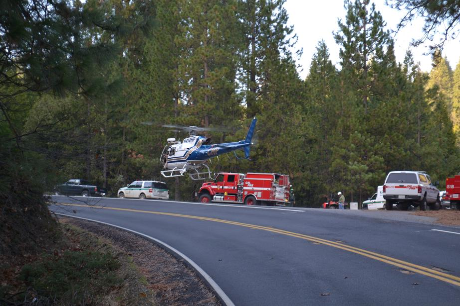 Lewis Creek Rescue CHP Helicopter Photo by SierraNewsOnline