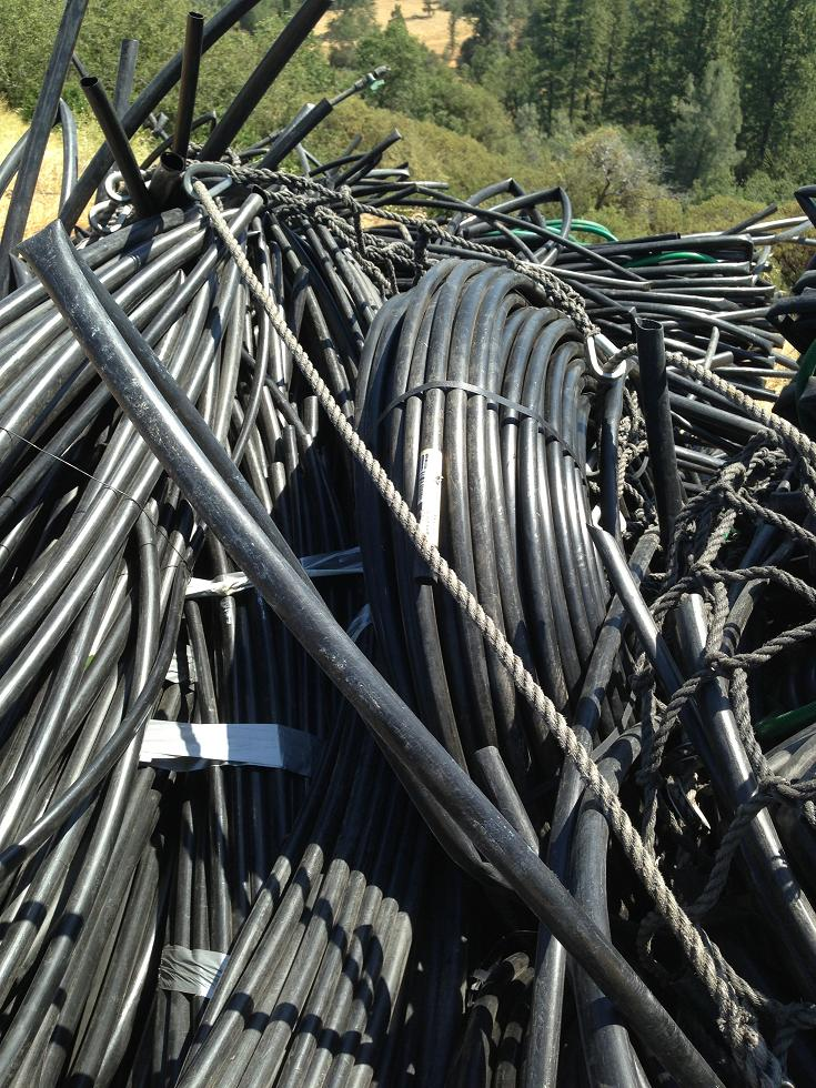 Drip irrigation lines - photo Madera County Sheriff