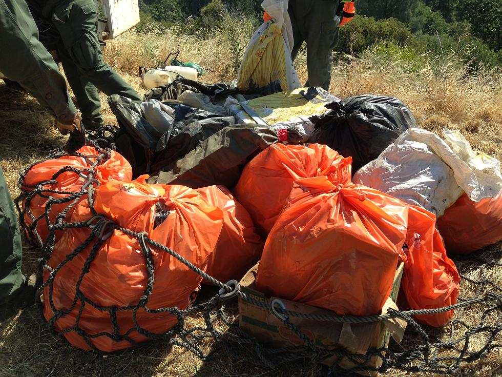 Trash in a sling - photo Madera County Sheriff