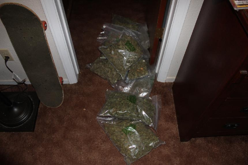 Processed marijuana in the hallway - photo Madco Sheriffs Office