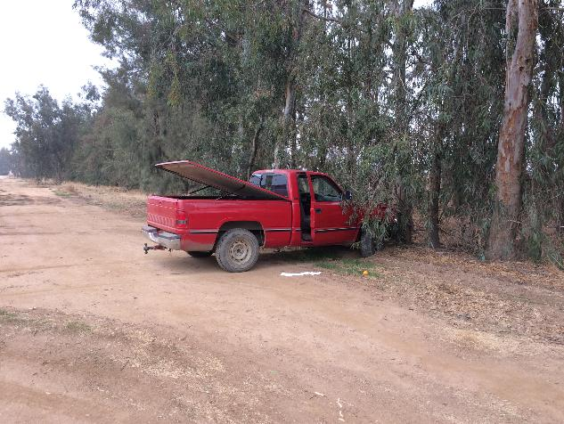 Pickup abandoned after chase 12-3-13 - photo Madco Sheriffs Office