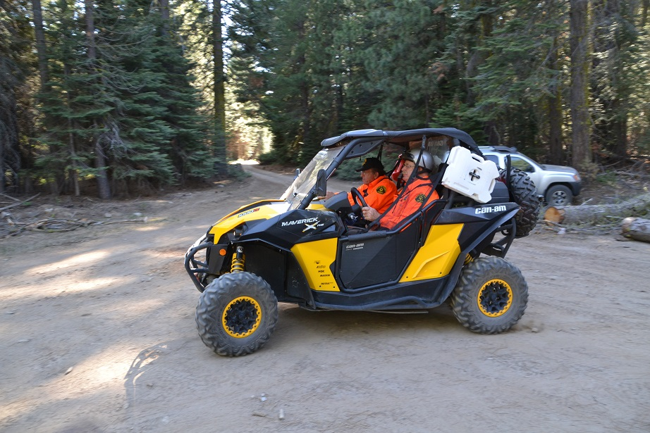 Searchers use Rec-Utility vehicles in the operation