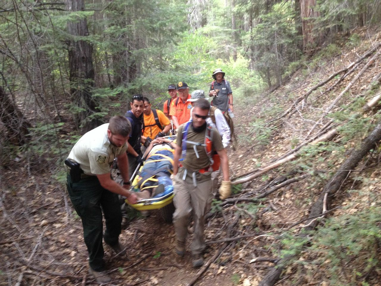Search  Rescue YMSPRR 8-2-14 - photo courtesy Madera County Sheriff