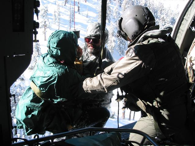 Stranded hikers rescued 2004  - photo courtesy Madco Sheriff