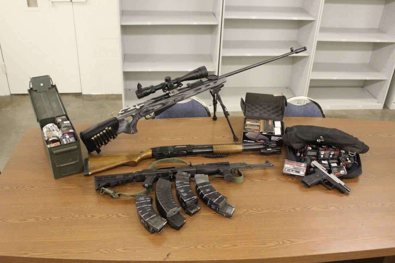 Guns recovered during MADNET bust - photo courtesty Madera County Sheriff