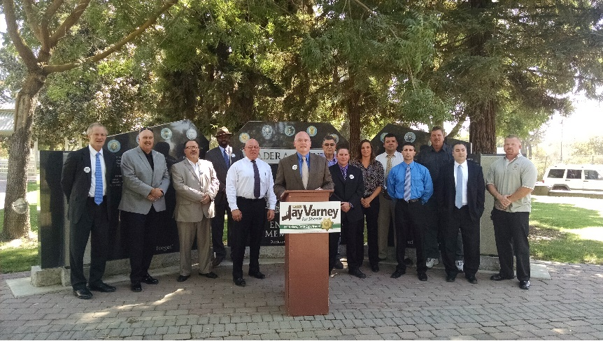 Jay Varney with local leaders at press conference - photo courtesy of Jay Varney