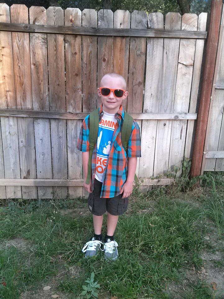 Andrew Chancey rockn second grade at OES by Kendra Chancey