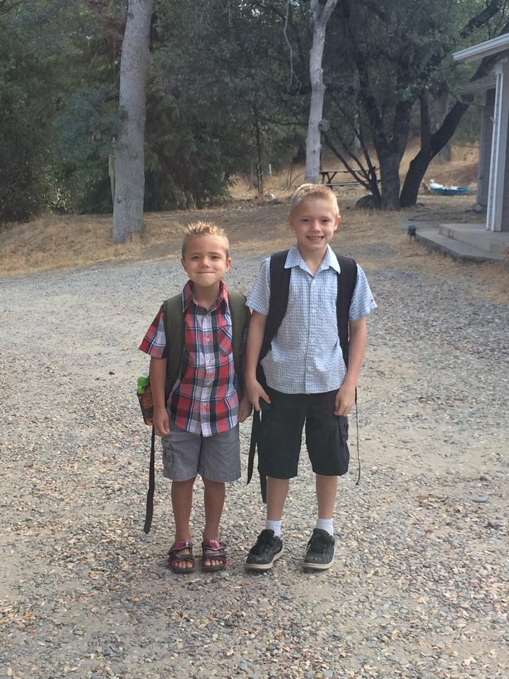 1st and 2nd grade at North Fork School by Nicole Bailey