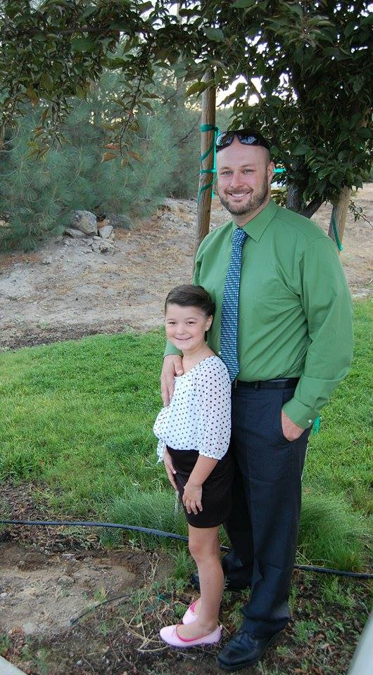 Audrey 2nd grade OES and Mr. Mercier  3rd year Principal at Wasuma - submitted by Elizabeth De Curtins Mercier