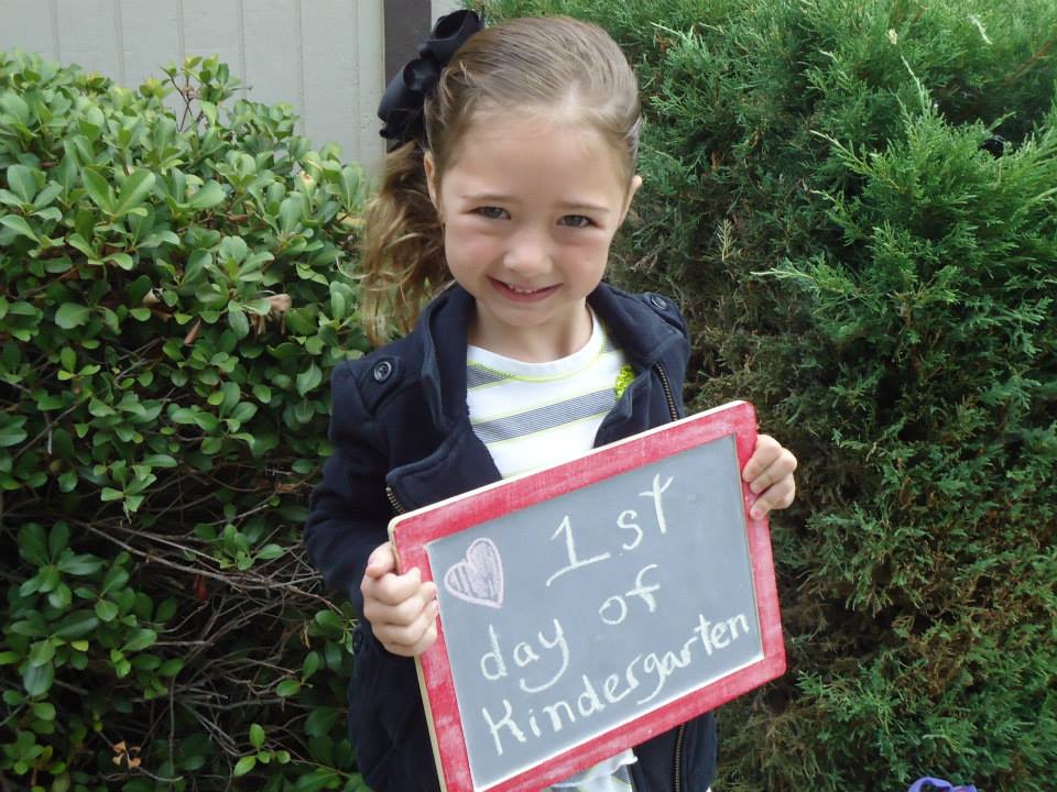First Day of School with Riley Dunbar - photo courtesy of Nikki Lewis