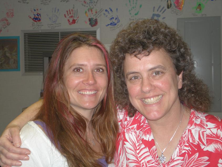 1998 graduate and owner of Natures Nutrients Margina Jones with teacher Mary Beth Harrison