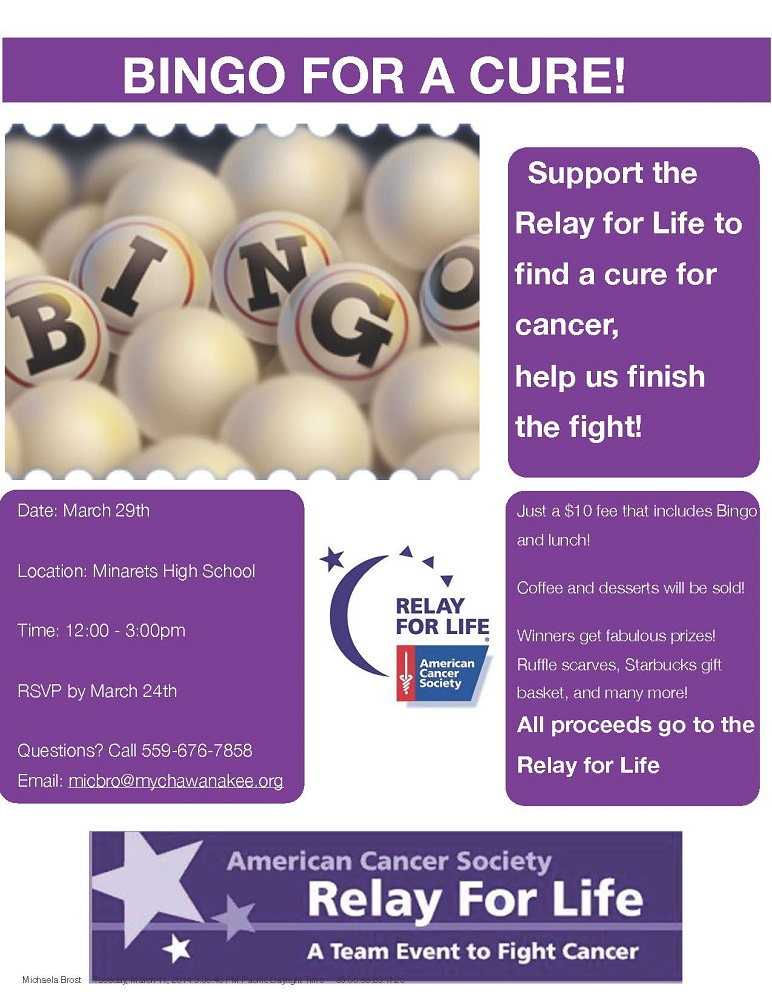 Bingo For a Cure 032914 2