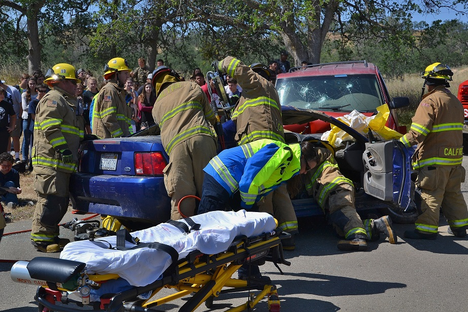 Using the Jaws of Life to free trapped passenger - photo by Gina Clugston