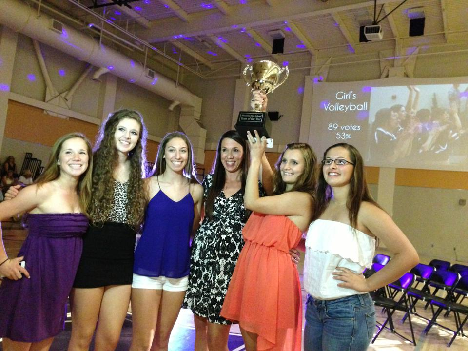 Girls Volleyball wins Overall Team of the Year at the Minarets Sports Awards - Courtesy Minarets Media