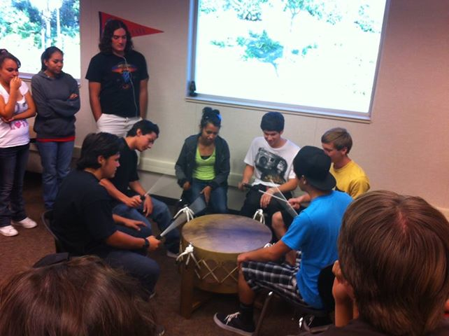 Native American studies using the drum for the first time