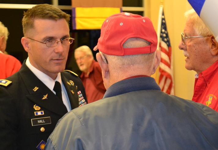 Ltc.Dave Hall at Veterans Dinner Minarets 11-13-12