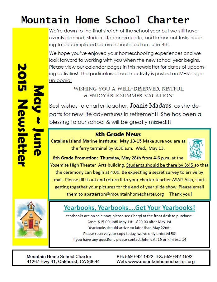 May newsletter 2015 page 1