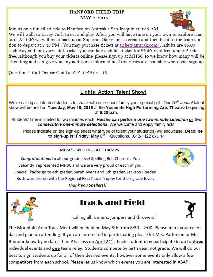 Mountain Home Charter newsletter May 2015 page 2