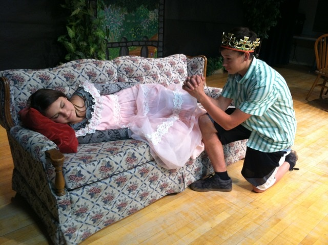 Sleeping Beauty played by Sophia Menosa and Prince Ling played by Tristan Killian