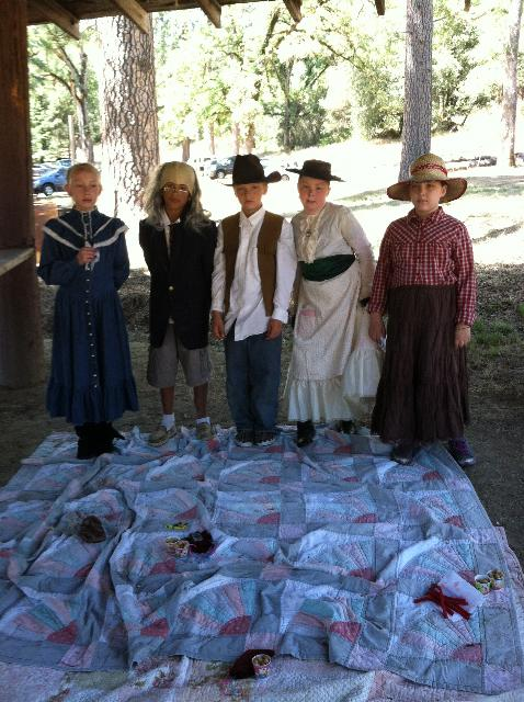 Students at Pioneer Days 2 - photo by Taylor Seaboalt