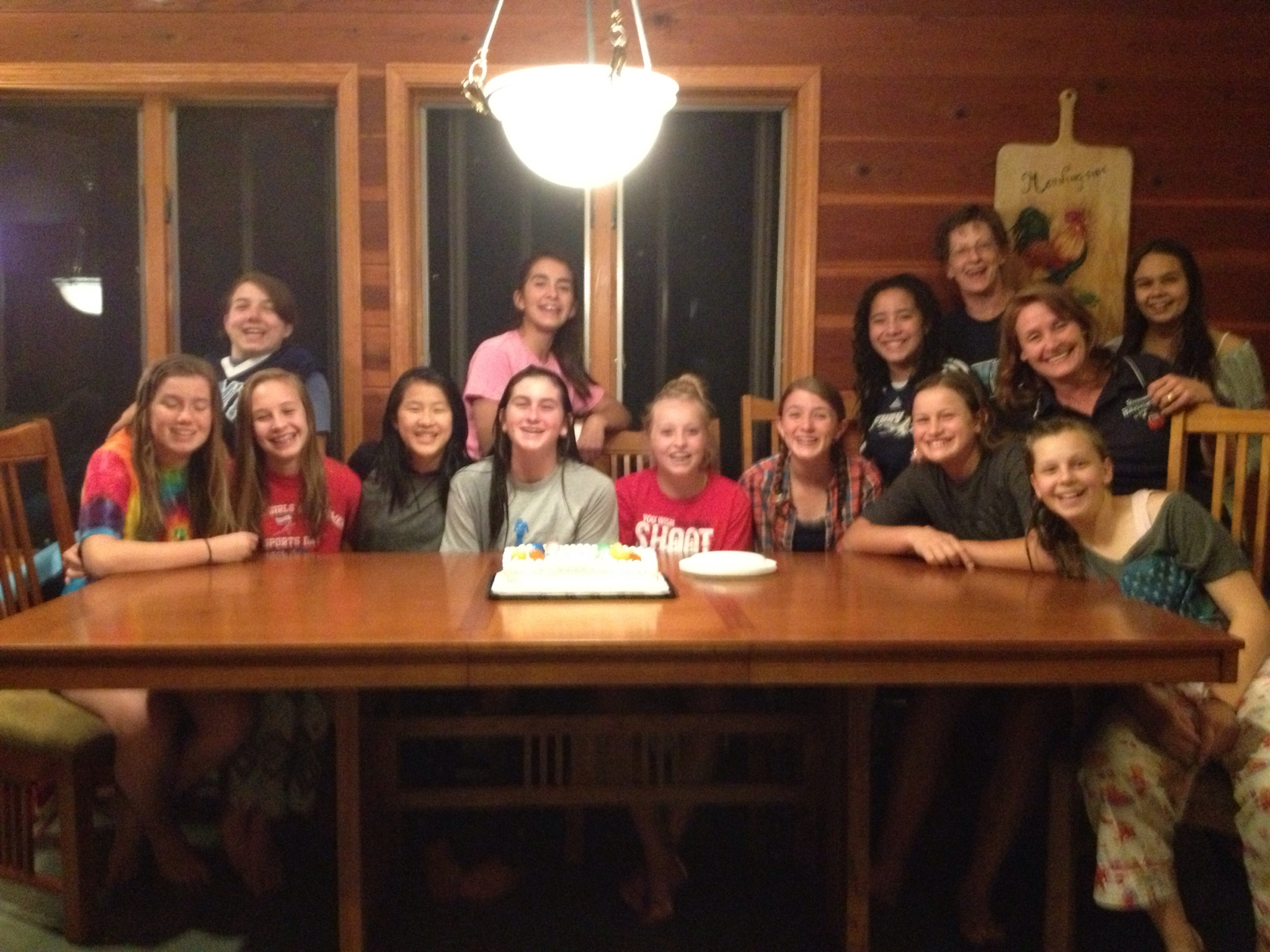 Yosemite Badgers Girls Basketball in Tahoe stayed together in the home of good friends  - photo by Stacey Montalto 2014