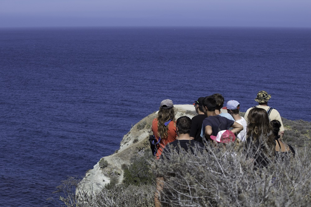 Oak Creek Intermediate students study the view from atop Catalina 2013 - Photo Credit Virginia Lazar
