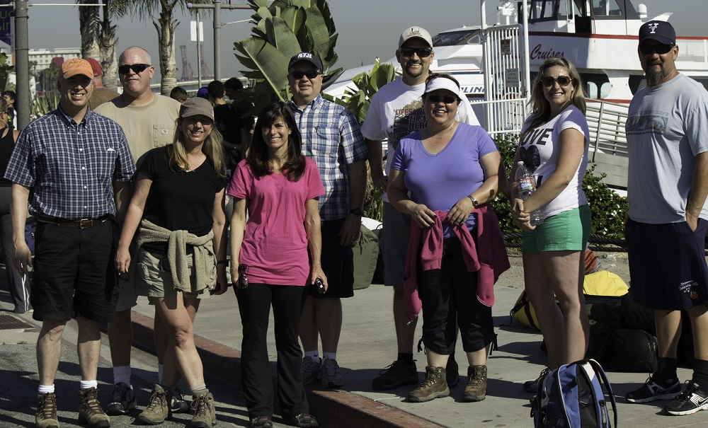 Oak Creek Intermediate volunteer parents and teachers prepare to depart for Catalina 2013 - Photo Credit Virginia Lazar