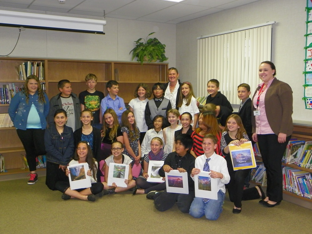 5th grade students in Mrs. Wards class at Oakhurst Elementary - photo by Kellie Flanagan