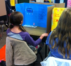 Students in Mrs. Wards class are hoping to receive new laptop computers to share - photo courtesy Mrs. Ward